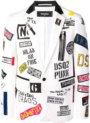 DSQUARED2 all-over print blazer
