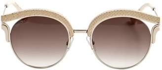 Jimmy Choo Ecru Metal Sunglasses