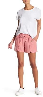 Susina Yarn Drawstring Tulip Hem Linen Blend Shorts (Regular & Petite)