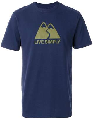 Patagonia slogan slim fit T-shirt