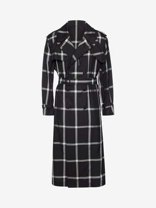 Alexander McQueen Windowpane Check Trench Coat