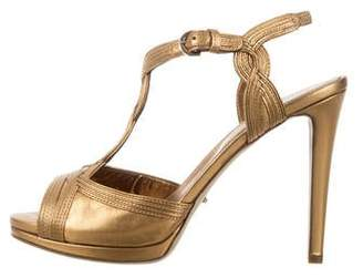 Sergio Rossi Leather Platform Sandals