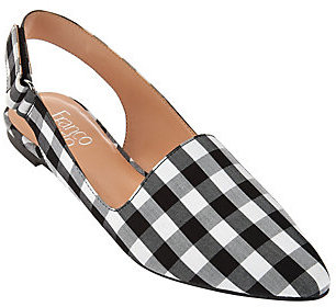 As Is Franco Sarto Slingback Pointed Toe Flats - Sphinx $24 thestylecure.com