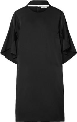 Fendi Pussy-bow Cutout Satin Mini Dress