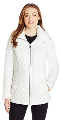 Marc New York by Andrew Marc Women's Lightweight Quilted Jacket with Hood $39.99 thestylecure.com
