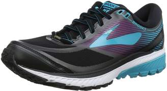 Brooks Women's Ghost 10 GTX Running Shoe (BRK-120245 1B 3887370 8 089 Black/Blue/Holly)