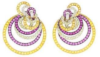 De Grisogono 18K Multistone & Diamond Gypsy Earrings