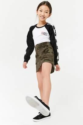 Forever 21 Girls Camo Print Button-Front Skirt (Kids)