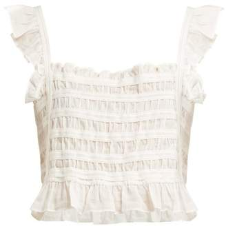 Sir - Aurelie Cotton Cropped Top - Womens - Ivory