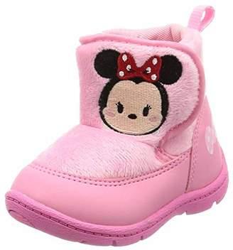 Disney (ディズニー) - [ディズニー] ブーツ ベビーシューズ ディズニー 防寒 ゆったり DN B1219 ベビー ピンク 13.5 cm 2E