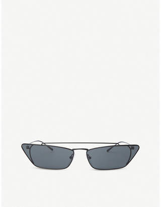 e7f2f9d950ae Prada Womens Silver Pr64Us Cat-Eye Metal Sunglasses