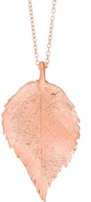 Chupi - Maxi Raspberry Leaf Necklace Rose Gold
