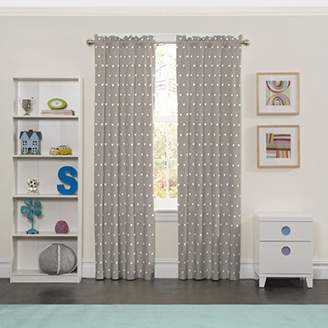 Eclipse Kids 15939042X063GRE Peanut Pals 42-Inch by 63-Inch Single Window Curtain Panel