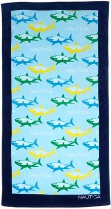 Nautica Shark Attack Multi Beach Towel - 35x66