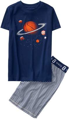 Crazy 8 Crazy8 Basketball Space Shortie 2-Piece Pajama Set