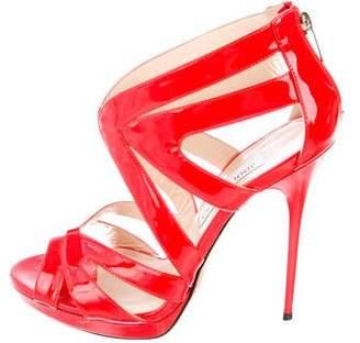Jimmy Choo Patent Leather Caged Sandals
