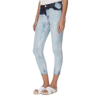Faded Blue Alana High Rise Skinny Fit Cropped Stretch Jeans
