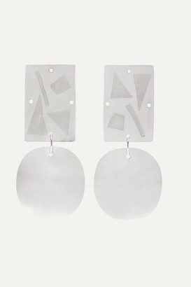 Annie Costello Brown Overt Silver Earrings - one size