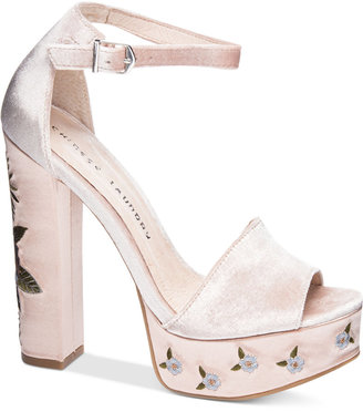 Chinese Laundry Ariana Embroidered Platform Sandals $99 thestylecure.com