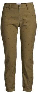 Current/Elliott The Easy Stiletto Polka Dot Skinny Crop Jeans