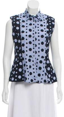 Paul Smith Polka Dot and Striped Button-Up Top