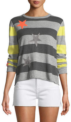 Lucky Star Lisa Todd Striped Cotton/Cashmere Sweater