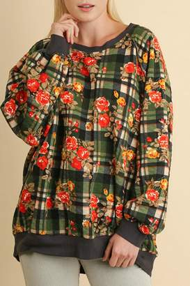 Umgee USA Plaid Quilted Floral