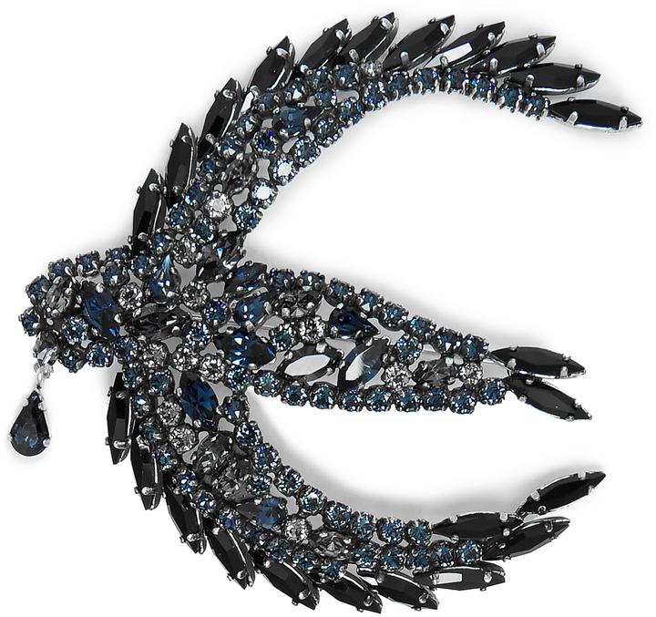 Sonia RykielSONIA RYKIEL Crystal-embellished swallow brooch