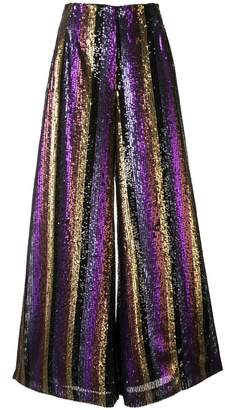 Semsem striped sequin palazzo pants