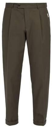 Ribeyron - Cotton Gabardine Trousers - Mens - Green