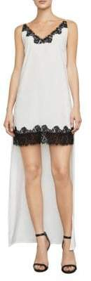 BCBGMAXAZRIA Lake Lace-Trimmed Hi-Lo Shift Dress