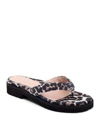 79c91df8b0a9 Taryn Rose Collection Taziana Leopard-Print Thong Sandals