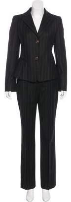 Akris Wool & Cashmere Striped Pantsuit