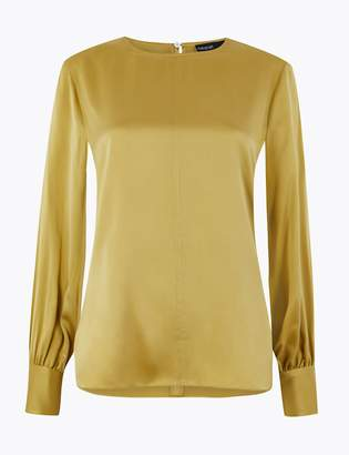 AutographMarks and Spencer Pure Silk Relaxed Fit Blouse