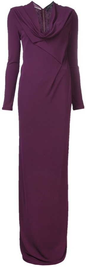 Roland Mouret long sleeve gown