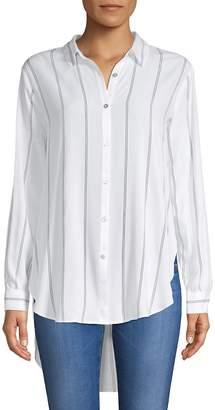 philosophy Women's Striped Hi-Lo Button-Down Shirt
