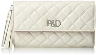 Pinky&Dianne (ピンキー エンド ダイアン) - [ピンキーアンドダイアン] 長財布 【ドンナ】キルティング P&Dロゴ金具 タッセル飾り付 大容量 PDLW7LT1 00 ホワイト