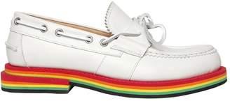Rainbow Sole Nubuck Leather Loafers