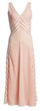Loro Piana Beatris Silk Striped Flared Tank Dress