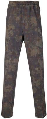Stella McCartney mixed-print tapered trousers