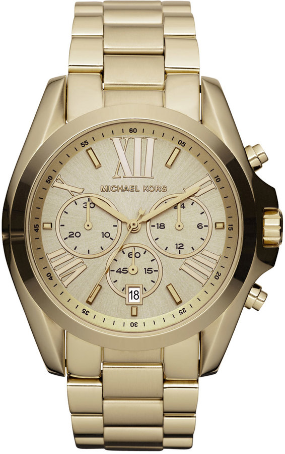 Michael Kors Mid-Size Bradshaw Chronograph Watch, Golden