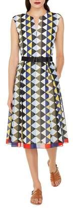 Akris Diamond Print Cotton Voile Dress
