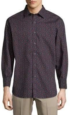 Robert Graham Paisley Cotton Button-Down Shirt