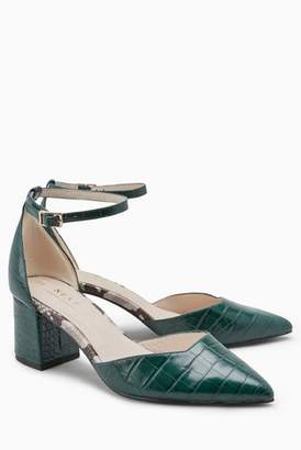 Next Womens Green Two Part Point Shoes