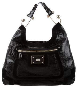 Anya Hindmarch Leather & Suede Shoulder Bag