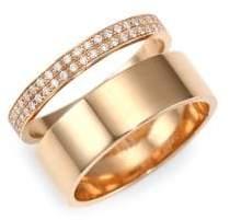 Repossi Diamond& 18K Rose Gold Two-Row Ring