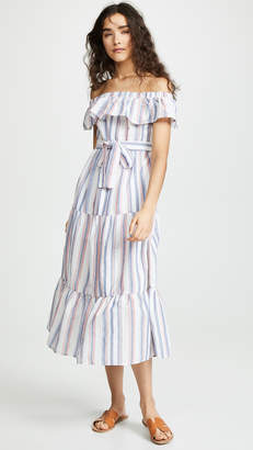 7a8fd6929a705 ENGLISH FACTORY Off Shoulder Striped Dress