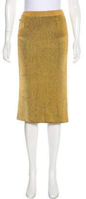 Louis Vuitton Metallic Pencil Skirt