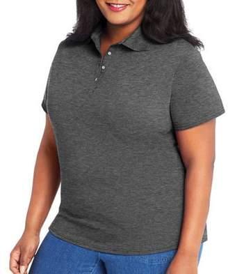 Hanes Women's X-Temp w/ Fresh IQ Short Sleeve Pique Polo Shirt