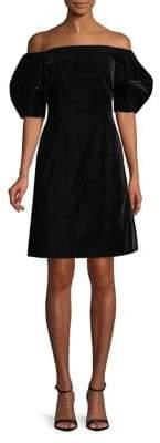 Jill Stuart Off-the-Shoulder Puff Sleeve Dress